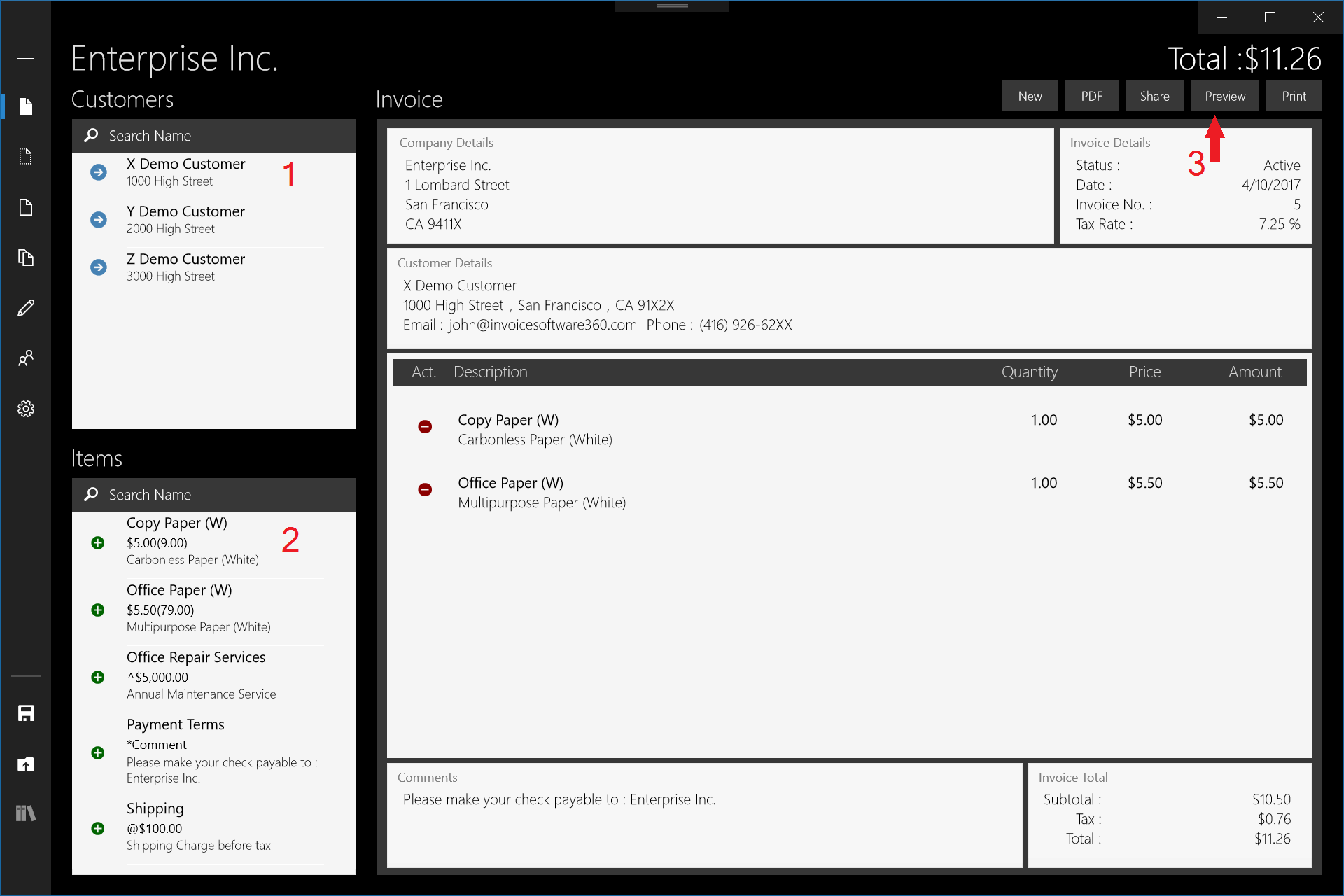 Create An Invoice In 3 Taps  Create A Invoice