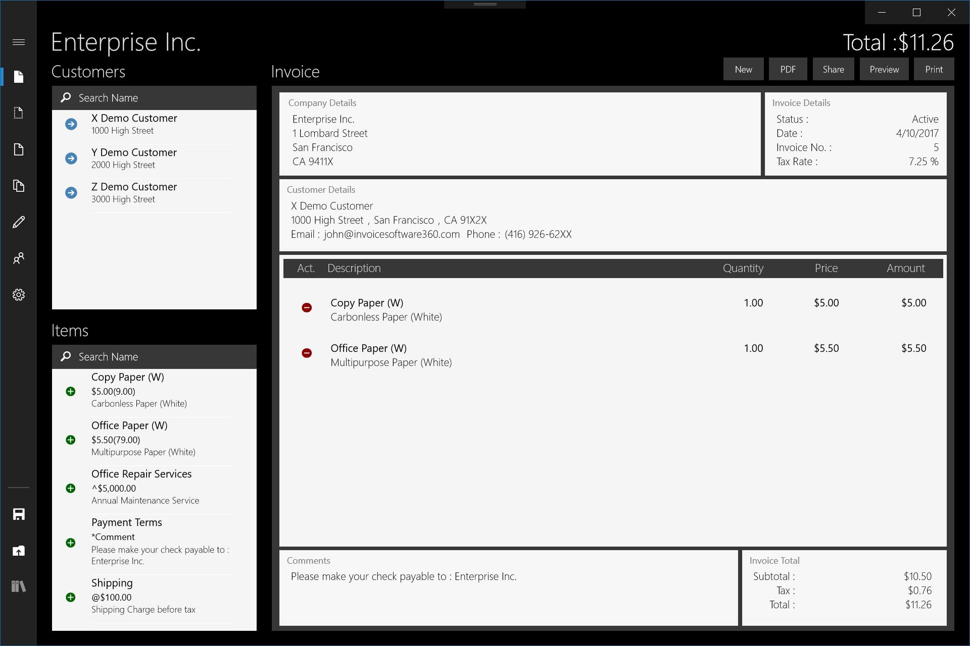 Invoice Invoice Software - Invoice simple for desktop