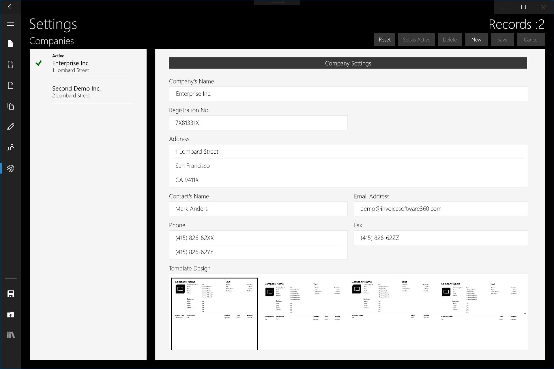 Setup Invoice - How to set up an invoice